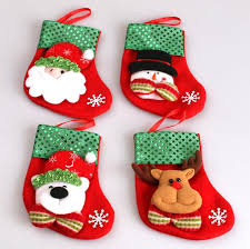 2016 new decoration supplies for home santa claus socks
