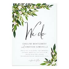 wedding invitations greenery greenery wedding invitation set botanical invite zazzle