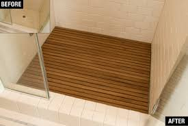Wood Shower Door by Bathroom Interesting Shower With Glass Shower Door And Teak