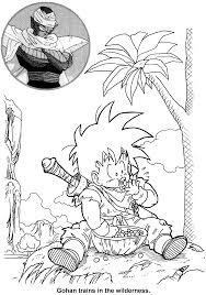 coloring page dragon ball z coloring pages 47