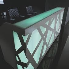 Illuminated Reception Desk Zig Zag Reception Desk With Led Illuminated Panels