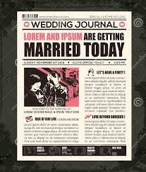 wedding newspaper templates 7 word pdf psd indesign format