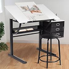 Foldable Drafting Table Tangkula Drafting Table Craft Drawing Desk