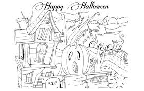 happy halloween coloring pages happy halloween pictures 2017