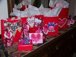 big valentines day with glittering gifts school project baking and