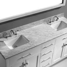 Virtu USA Caroline  Double Bathroom Vanity Set In White - Virtu usa caroline 36 inch single sink bathroom vanity set