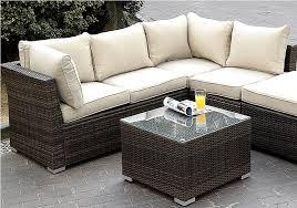 rattan wicker sofa outsunny 6 pc deluxe outdoor patio pe rattan