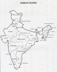 India Map Political Blank Printable by Neh Institute 2008