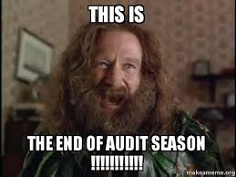 This Is The End Meme - this is the end of audit season robin williams