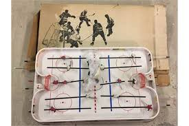 Table Top Hockey Game A Boxed Puck Master Table Top Ice Hockey Game Complete With 4