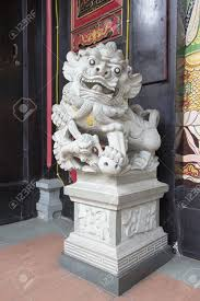 marble foo dogs foo dog temple lion guardian marble sculpture