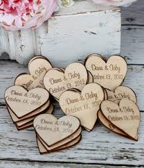 wedding magnets custom rustic wedding favors wood heart magnets to do for i do