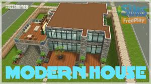 sims freeplay modern house youtube