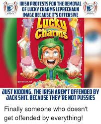 Lucky Charms Meme - irish protests for the removal of lucky charms leprechaun image