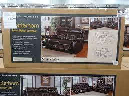 Leather Sofa And Loveseat Recliner by Spectra Matterhorn Leather Power Motion Loveseat