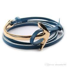 anchor wrap bracelet images Anchor leather wrap bracelet women and men multilayered leather jpg