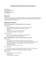 objectives for resumes any job resume good sample internships