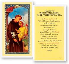 prayer to infant jesus laminated prayer cards 25 pack from