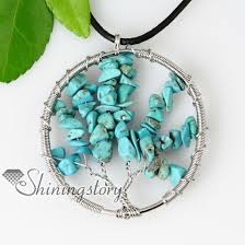 heart stone necklace pendants images Heart oblong round semi precious stone turquoise necklaces jpg