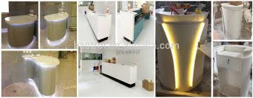 L Shaped Salon Reception Desk Modern L Shape Counter High Glossy White Beauty Salon Reception