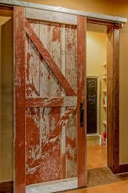 Red Barn Door by Distressed Sliding Barn Door Remodel Master Bedroom Pinterest