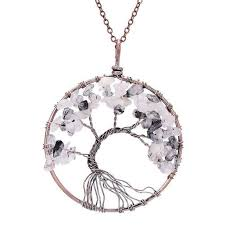 love crystal necklace images I love crystal chakra tree of life pendant necklace yoga is powerful jpg