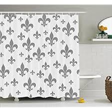 Fleur De Lis Bathroom Decor by Amazon Com Fleur De Lis Decor Shower Curtain Set By Ambesonne
