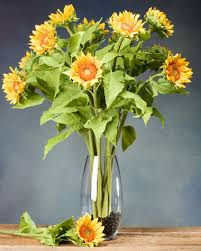 silk sunflowers small sunflower silk flower stem for arranging at petals