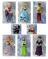 cinderella set of 8 tree ornaments
