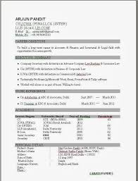 cv format for freshers mca documents resume templates