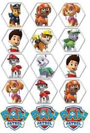 15 paw patrol cupcake toppers edible birthday party cupcake