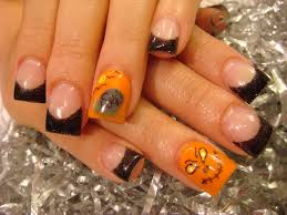 easy halloween acrylic nails images