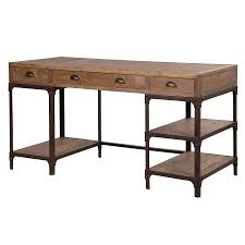 writing desk with shelves blaine industrial pine desk with shelves
