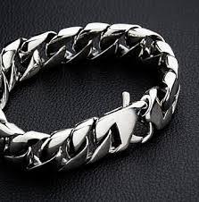 link men silver bracelet images Cuban link sterling silver mens bracelet bikerringshop jpg