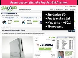 pay to bid auction auction aka pay per bid