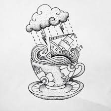 storm in a teacup 16 black and white teacup tattoos