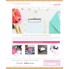 personalized boutique responsive website template red peach designs