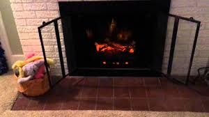 duraflame electric fireplace log with heater review youtube