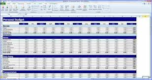 Excel Personal Budget Template 8 Excel Personal Budget Template Weeklyplanner Website