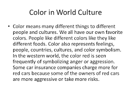what do different colors mean what do colors mean to you ppt video online download