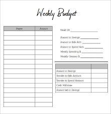 cash budget template blank weekly budget sheet sample weekly