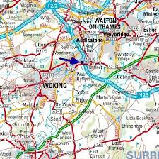 road map sle weydays boat hire walton woking road map