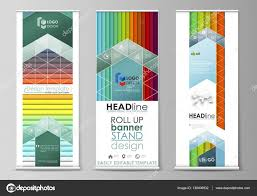 Stand Up Flag Banners Roll Up Banner Stands Flat Style Templates Modern Business