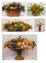 fruit flower arrangements artificial fruit arrangements tuscan produce centerpiece