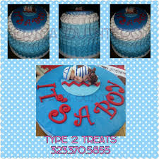 nautical theme baby shower cake blue ombre whipped cream petal