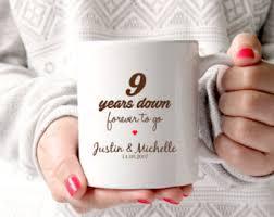 wedding anniversary gift ideas 9th anniversary etsy