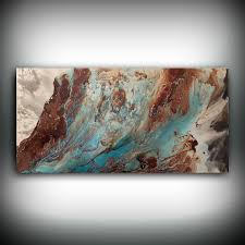 Copper Wall Decor by Original Painting Art Painting Acrylic Painting Abstract Painting