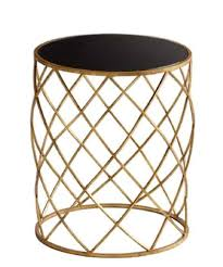 black and gold side table street market gold weave side table