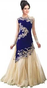 top design maulik enterprise net embroidered self design dress top material