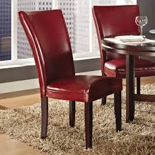 steve silver hartford 7 piece round dining room set w red chairs steve silver hartford 7 piece round dining room set w red chairs in dark oak
